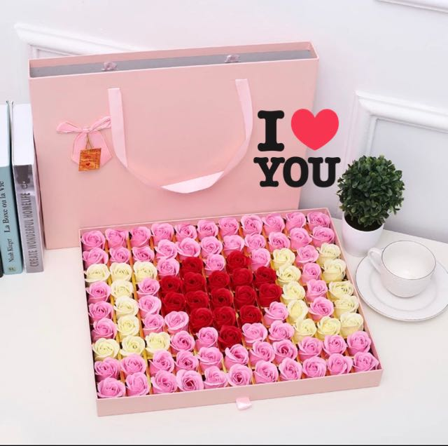 Flash Deal 79 99 Stalks Handmade Soap Rose Gift Box Ideal For Valentine S Day Marriage Proposal Birthday Anniversary