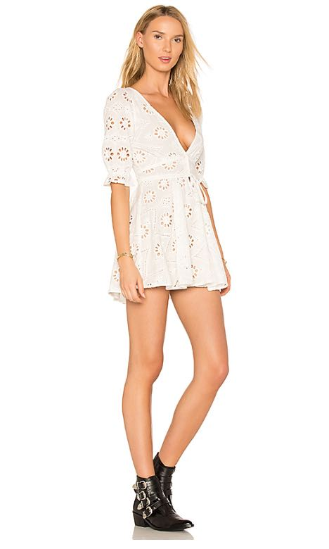 41cb1250a7 For love and lemons x revolve eyelet white dress