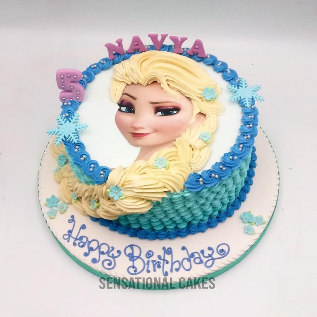 Frozen Elsa Disney Theme Girls Birthday Cake Singaporecake Food