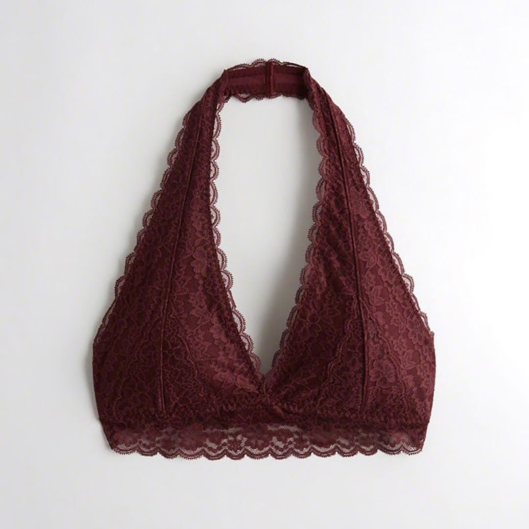 440367661d Gilly Hicks by Hollister Co. Maroon Padded Halter Bralettte S ...