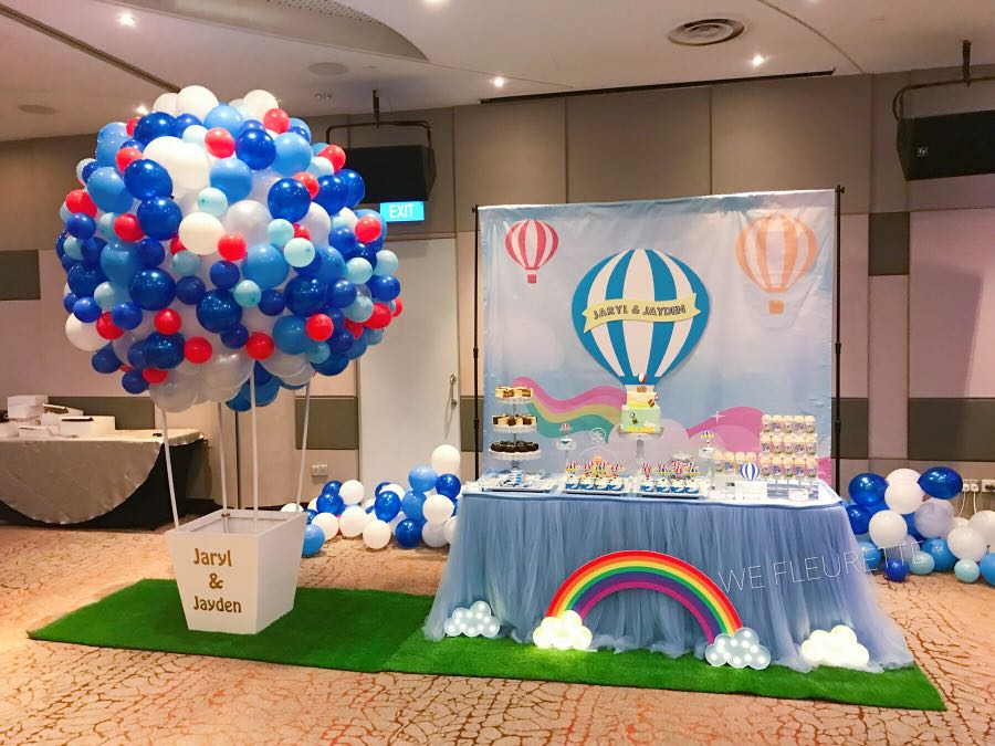 Hot Air Balloon Theme Birthday Decoration Dessert Table Design