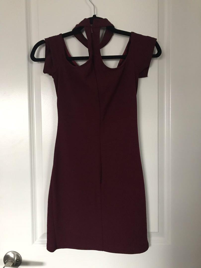 Maroon Choker Dress (I met JLO in this Dress!)