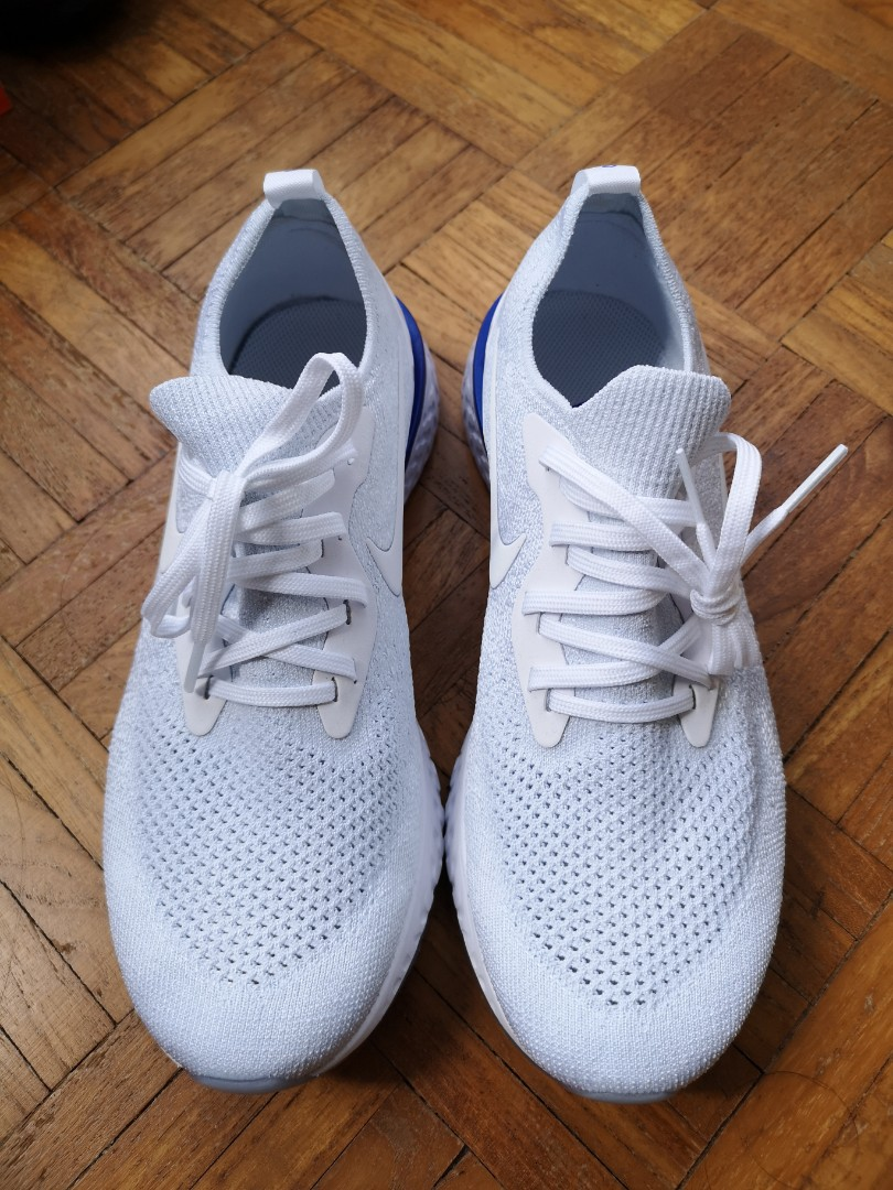 ab0204d62ab1 Men s Nike epic react in pure platinum white and cobalt blue