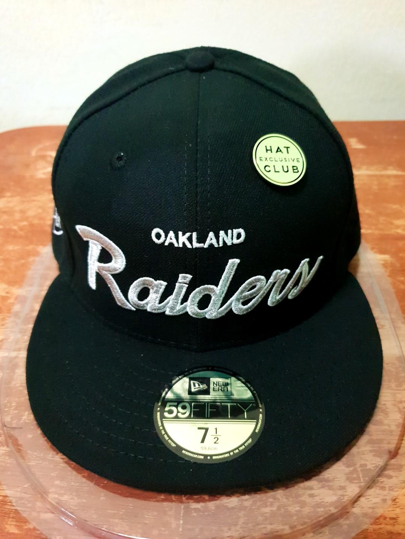 cd3c8628e6a ... good new era oakland raiders retro script hat 59fifty dec50 fesyen  3e394 bea81