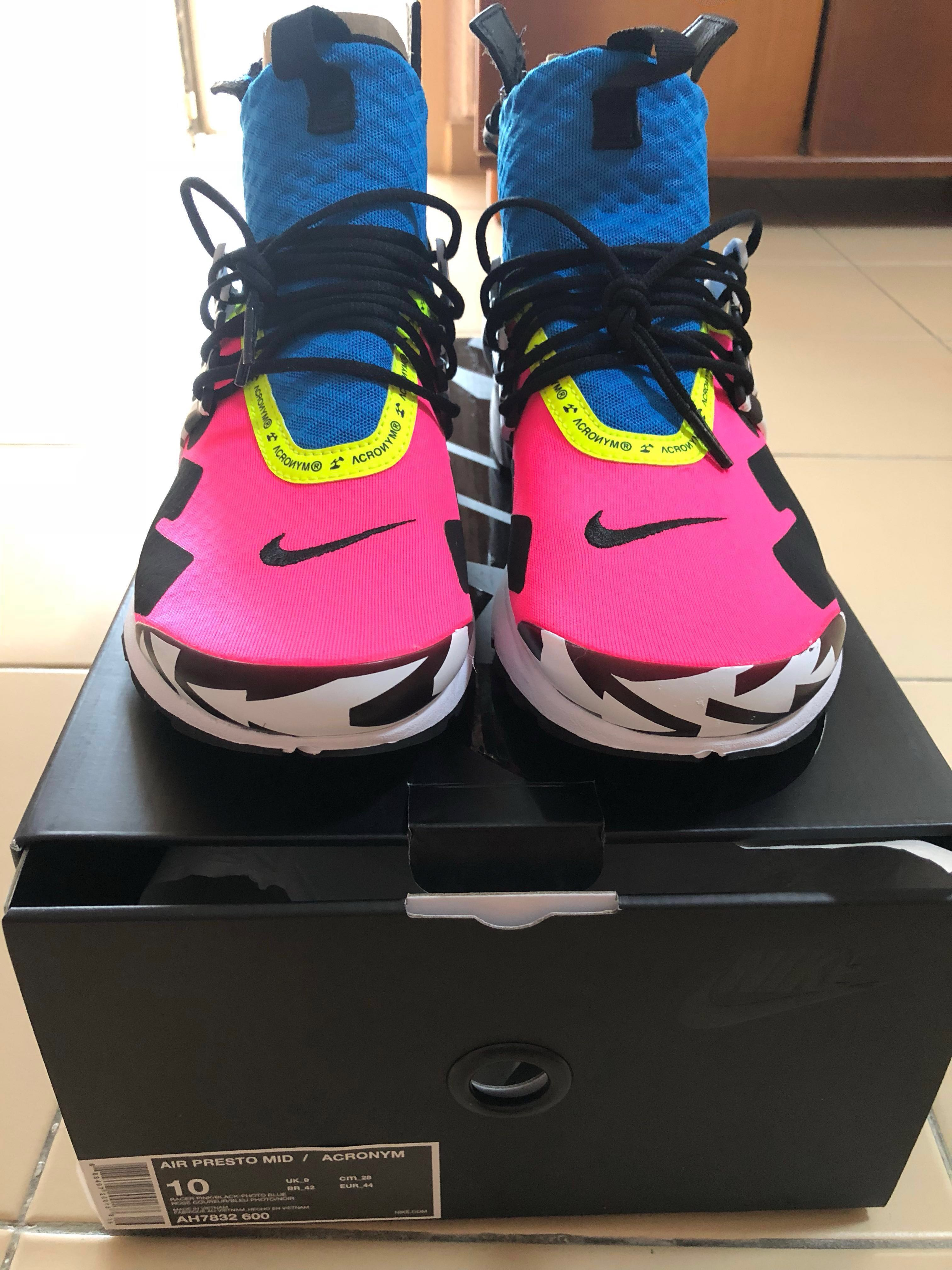 new style 776fb 2c840 Nike Acronym Air Presto Mid Racer Pink