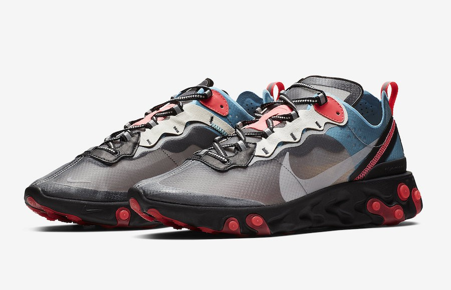 c6d0228bea986 Nike React Element 87 Blue Chill Solar Red