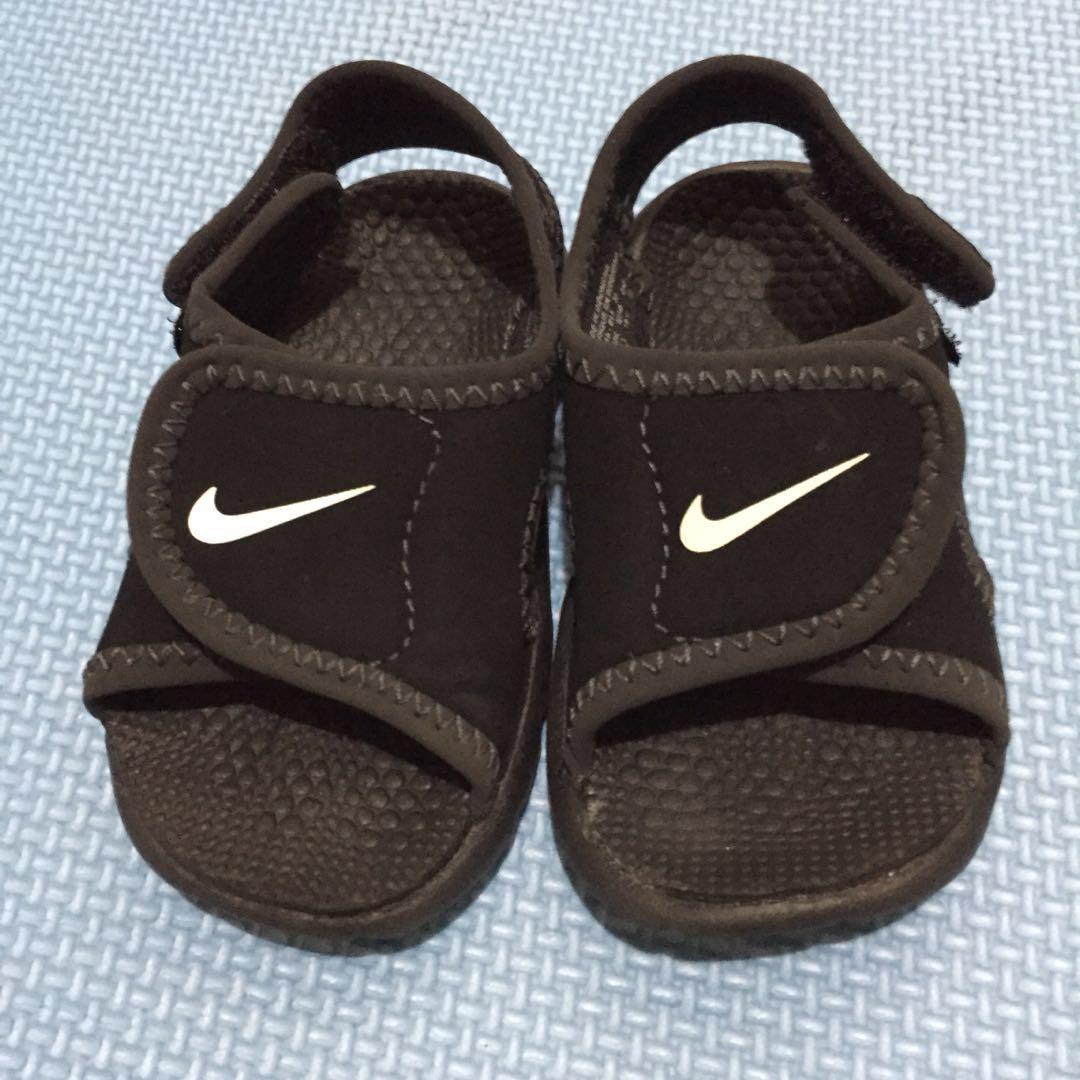 bfa06fd33efff1 Original Black Nike Sunray Adjust 4 Sandals 6-9mos