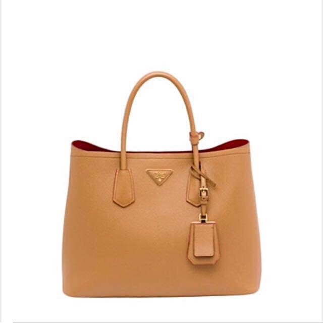 15db17e4422e Prada Saffiano Cuir Bag In Caramel, Luxury, Bags & Wallets, Handbags on  Carousell