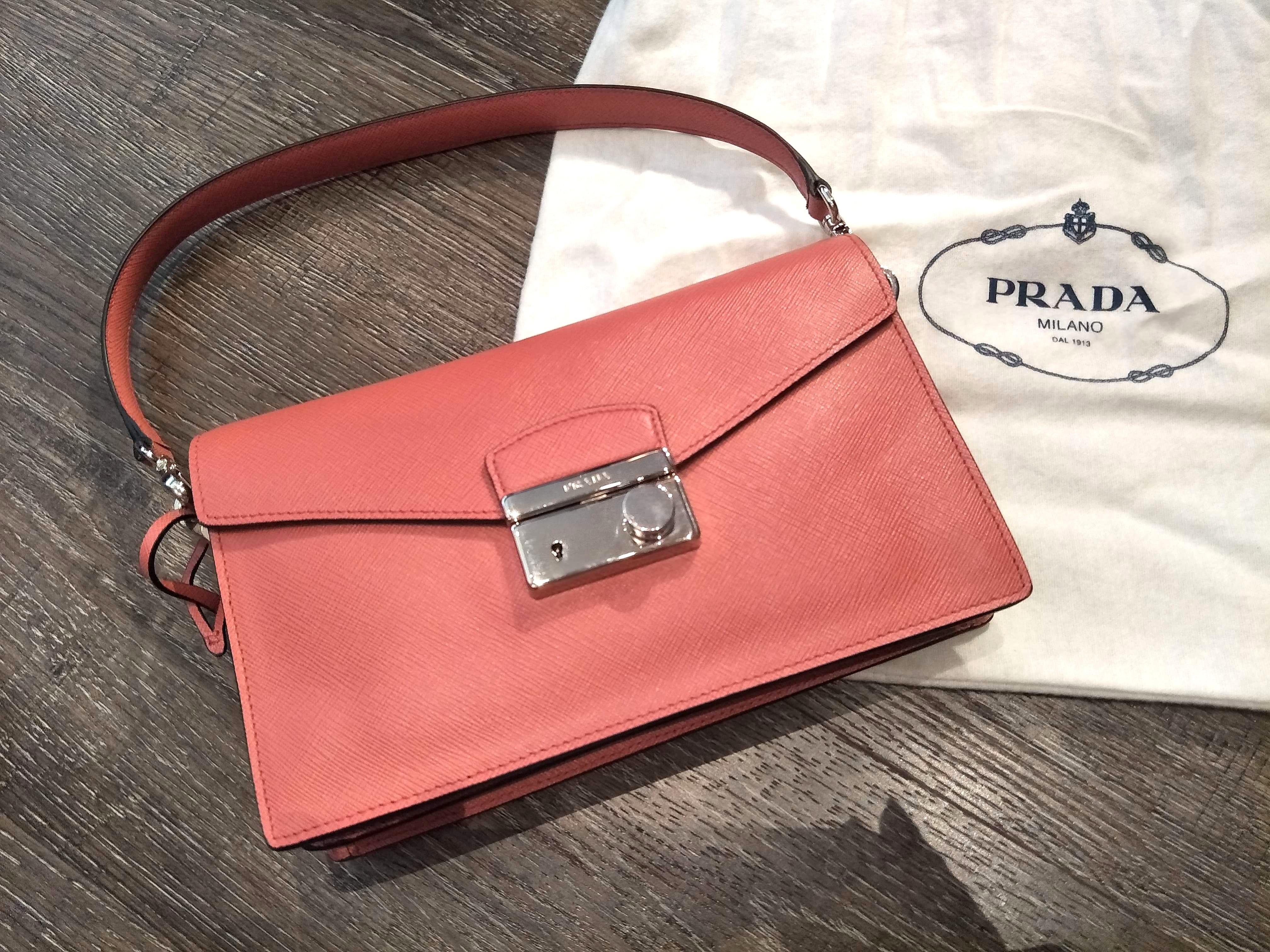 362e87d0fa Prada Saffiano handbag   crossbody sling bag