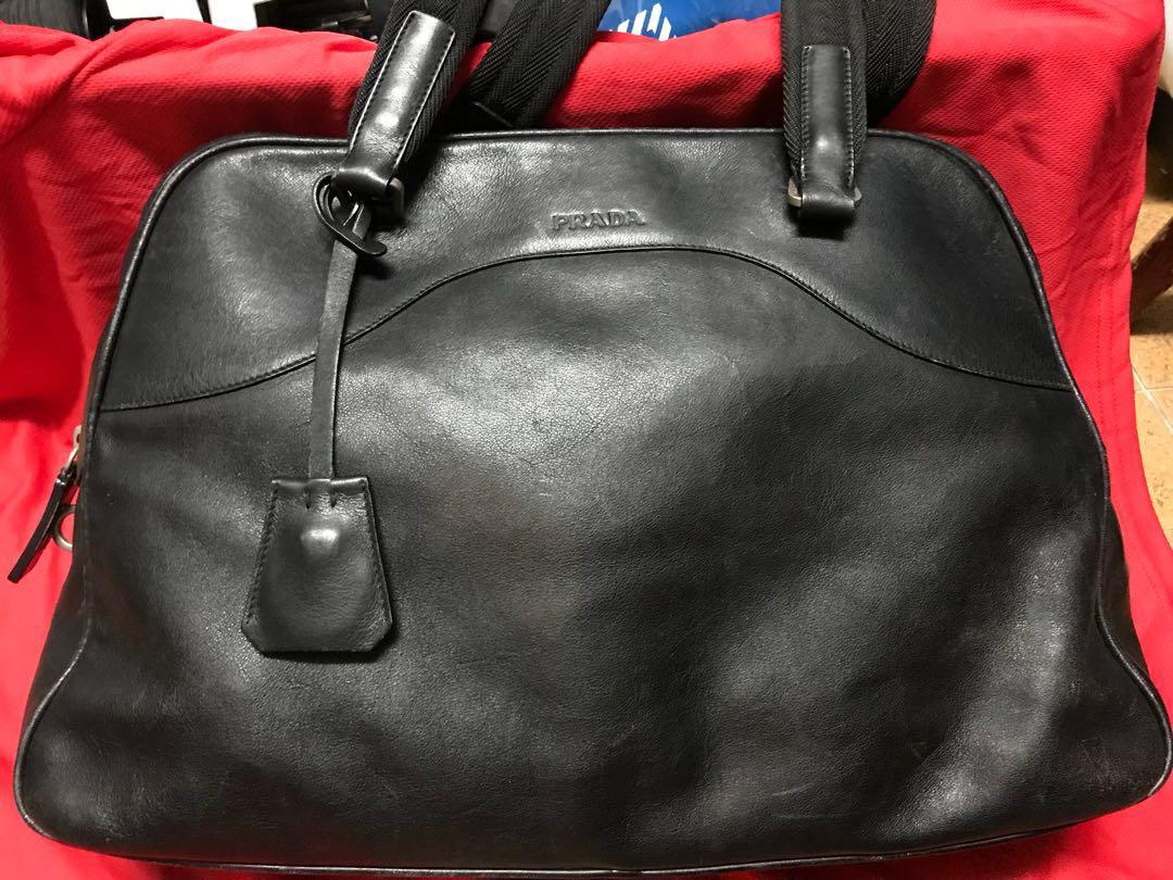 d911bc5abe02 Prada Vintage Leather Bag, Women's Fashion, Bags & Wallets, Handbags ...