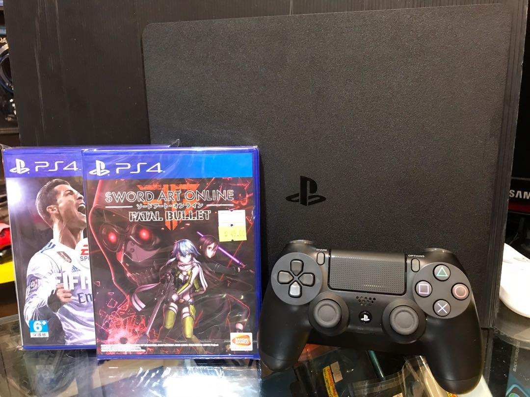 PS4 Slim Set (Used) With Games, Toys & Games, Video Gaming