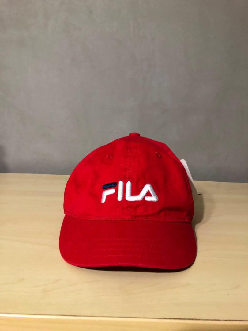 96696d71a8b Red Fila Cap (Fila x Lowry Farm)