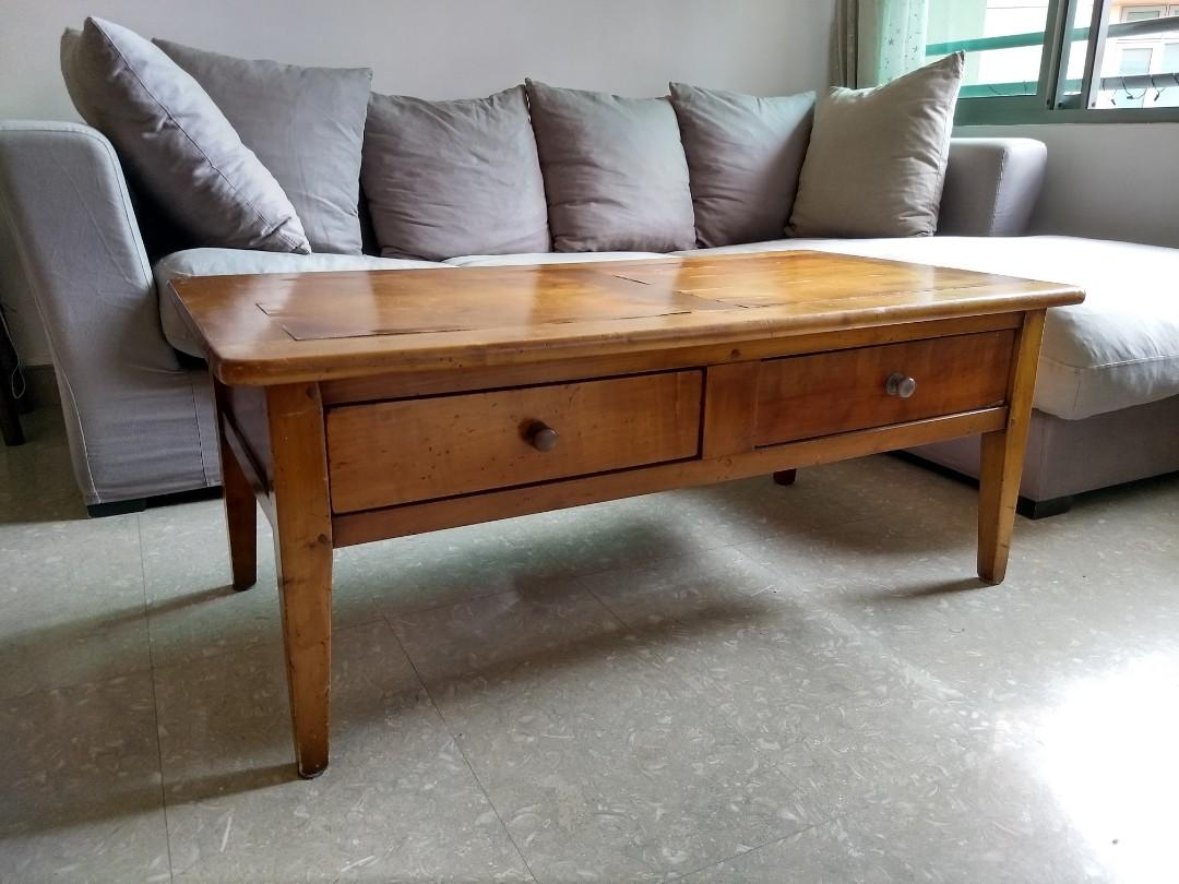 Picture of: Solid Cherry Wood Coffee Table Furniture Tables Chairs On Carousell