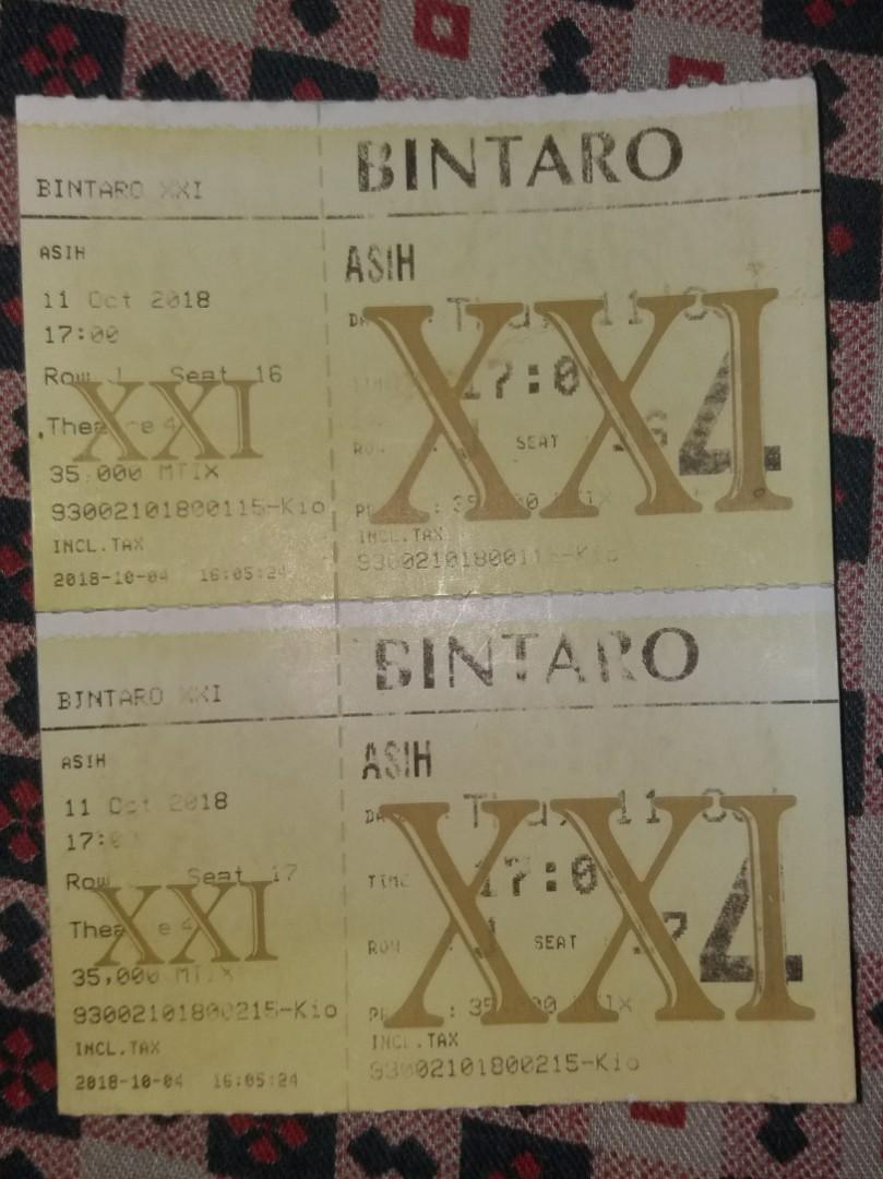 Tiket Bioskop Asih 11 Okt Tickets Vouchers Events Tickets On