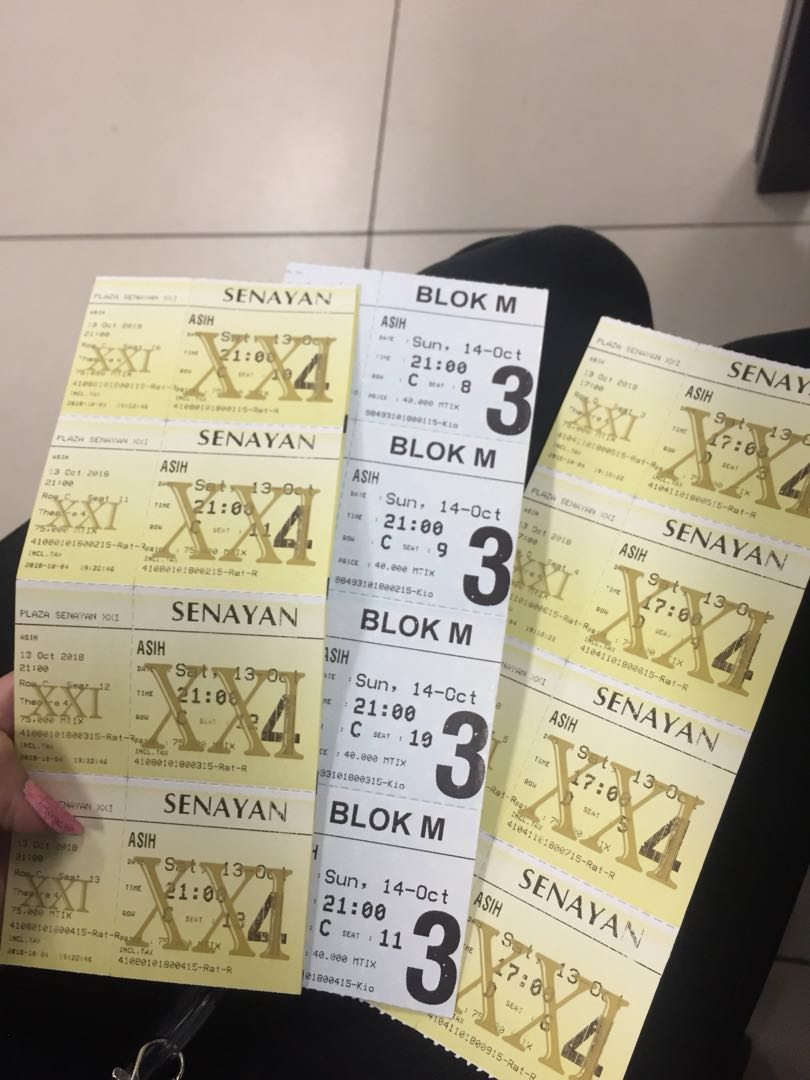 Tiket Nonton Xxi Asih Tickets Vouchers Events Tickets On Carousell