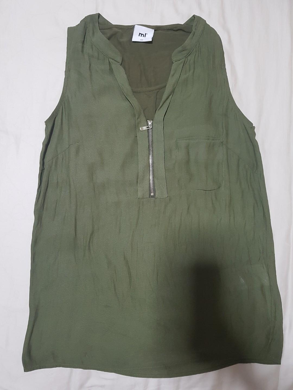 23572c08f86 Trendy Polyester/ Cotton Sleeveless Top, Women's Fashion, Clothes ...