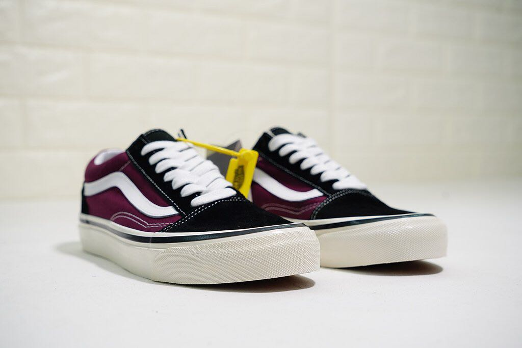 d7eb97a89f2 Vans Old Skool 36 DX Anaheim Factory  Black   OG Burgundy
