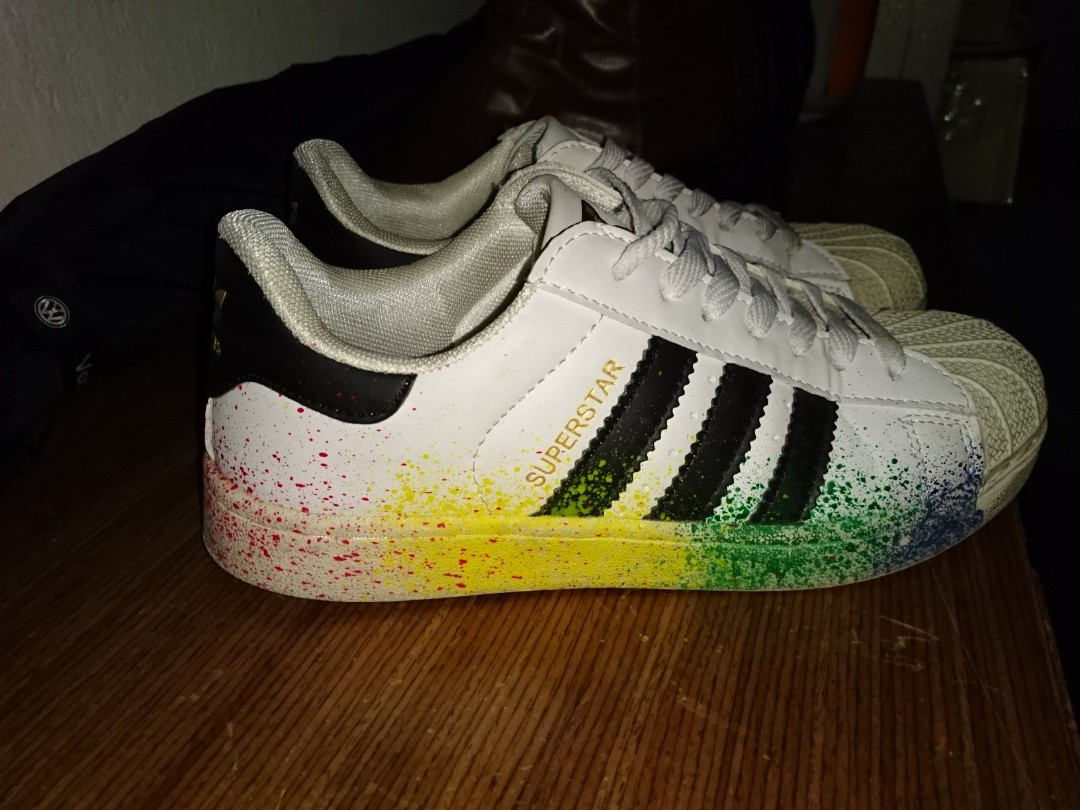 quality design 7ae47 007a6 usa adidas superstar white rainbow 4286b 17247