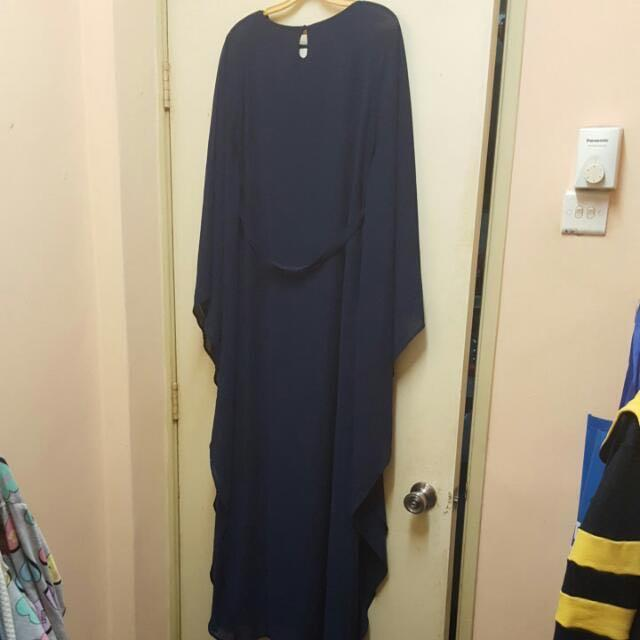 Zalia Muslimah Dress (Dark Blue)