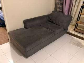 L-shaped movable sofa