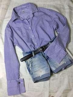 Striped blue purple-ish
