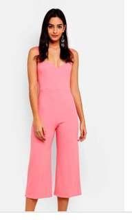 Miss selfridge pink jumpsuit