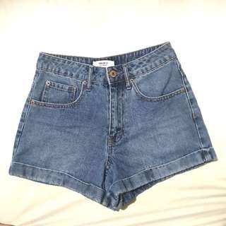 F21 Classic Denim High Waisted Shorts