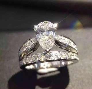 皇冠造型莫桑女鑽戒