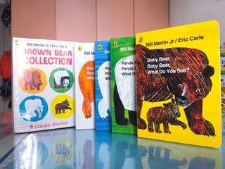 NEW~ Eric Carle 4 in 1 Brown Bear 🐻 Collection (4 classic stories ) board book