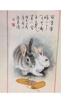 Chinese Painting 中國工笔画!双双対対!張克淸老師!