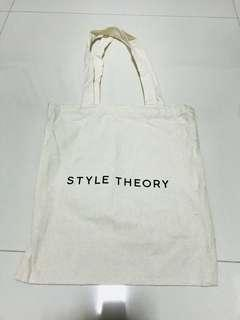 BN Style Theory White Tote Bag