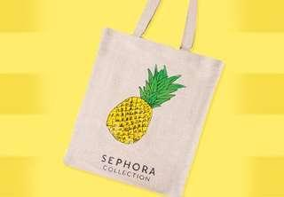 Limited Edition Sephora Collection Pineapple Tote Bag