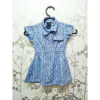 🆕 Girl Denim Dress Floral