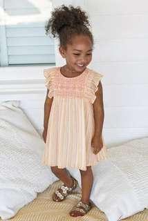 NEXT baby girl metallic peach dress