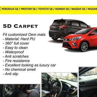 Perodua Axia 5D carpet
