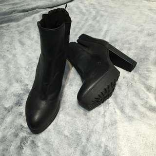 H&M Geniune Leather High Heel Boots