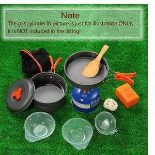 NEW Outdoor Camping Hiking Cookware Set