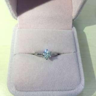 0.54 Carat F Color 18k Diamond Ring 高色好火鑽石戒指