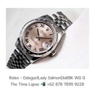 Rolex - Datejust Lady 31m, Roman Salmon Dial, 18K White Gold Diamonds Bezel Stainless Steel 'G'
