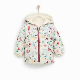 Floral winter warm padded jacket