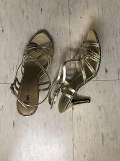 Gold sandals size 7