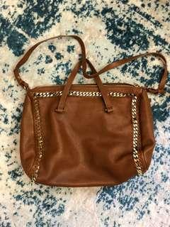 Zara tan leather bag