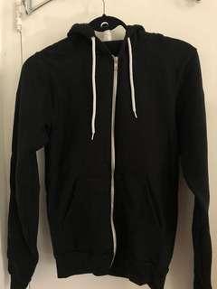 American Apparel hoodie size S black