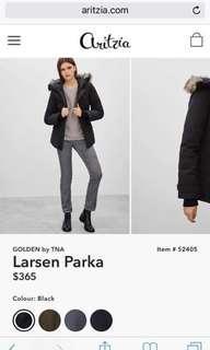 Like-new Aritzia Larsen Parka (Golden by Tna)