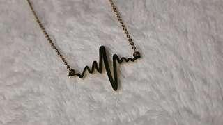 Bangkok Gold heartbeat necklace