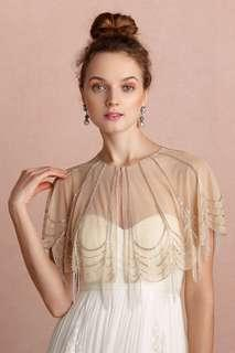 BHLDN Trickling Capelet in nude