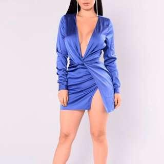 Medium Fashion Nova Royal Blue Dress