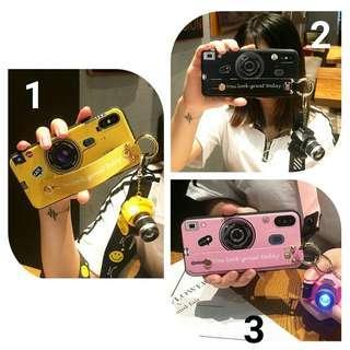 預購(Pre Order). 創意相機款帶掛繩+迷你發聲發光相機手機壳