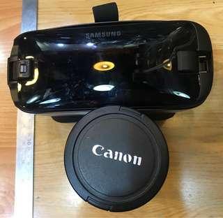 三星 SAMSUNG Gear VR 眼罩 oculus + Canon ZOOM 鏡頭水杯 各1pc