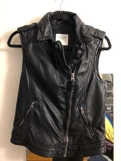 A&F Leather Vest Small